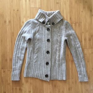 Banana Republic Cable Knit Cardigan Sweater